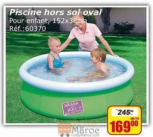 Promo Piscine Hors Sol : promo bricoma piscine enfant hors sol oval 169dhs les ~ Dailycaller-alerts.com Idées de Décoration