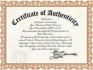 certificate of authenticity lynn ellsworth guitars With certificate of authenticity autograph template