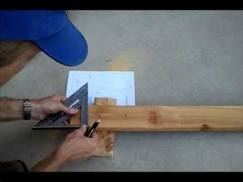 cutting  storage shed roof rafter birdsmouthwmv youtube