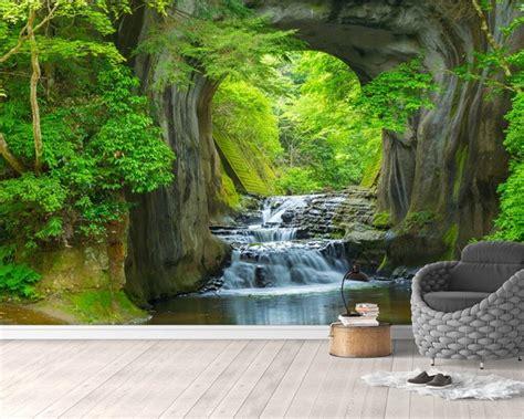 beibehang custom wallpaper hd water forest background wall