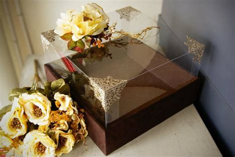 brown suede seserahan box wedding gift tradition