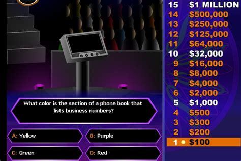 millionaire  game quizzes games