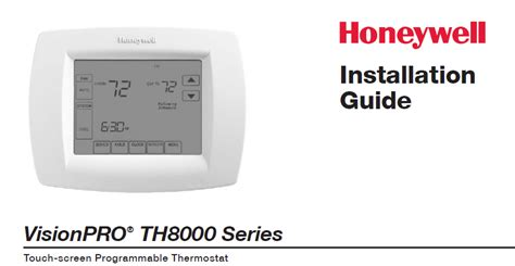 honeywell visionpro th8000 manual manual pdf