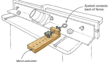 micro adjuster  router table fence finewoodworking