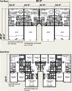 Pictures Plex Floor Plans by 4 Plex 3br 2 5ba 1 648 1 758 Sq Ft Each Cutting