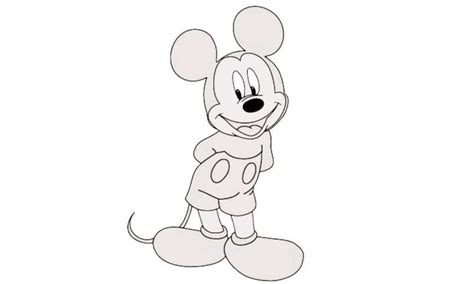 draw mickey mouse    draw