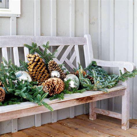 Weihnachtsdeko Für Die Gartenbank by 28 Ideen F 252 R Weihnachtsdeko Im Garten Zum Selbermachen