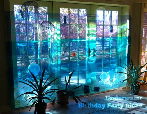Underwater Decorations - diy underwater birthday themes a magical mess