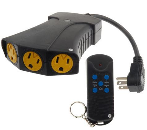 indoor outdoor remote switch w 3 outlets and 5 light