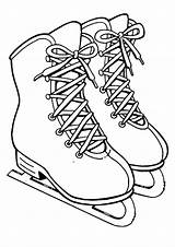 Skating Coloring Pages Ice Skate Skater Getcoloringpages sketch template