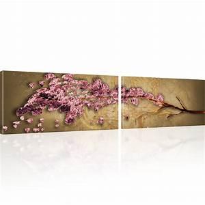 Sakura Baum Kaufen : bilder japanische kirschbl te sakura baum abstraktes wandbild auf leinwand ~ Frokenaadalensverden.com Haus und Dekorationen