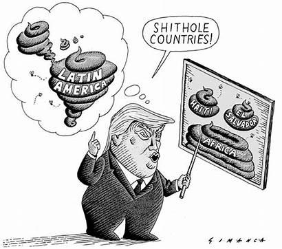 Cartoons Shithole Trump Countries Imperialismo Mierda Fabrica