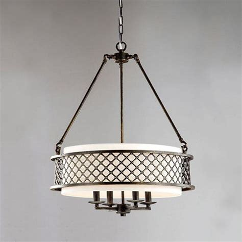 drum shade light fixtures bronze 4 light chandelier drum shade pendant l ceiling