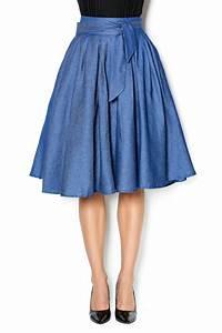 Gracia Flowy Denim Skirt from Georgia by Opulence Nail Bar