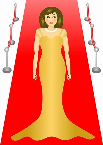Carpet Glamour Clipart Clip Woman Celebrity Actress