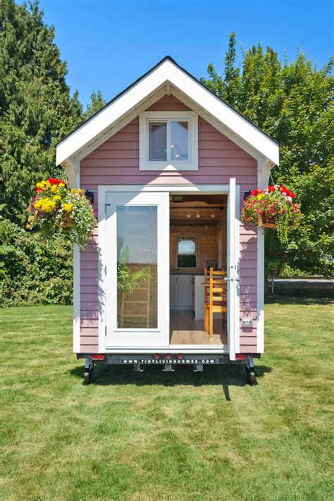 tiny living houses tiny pink house