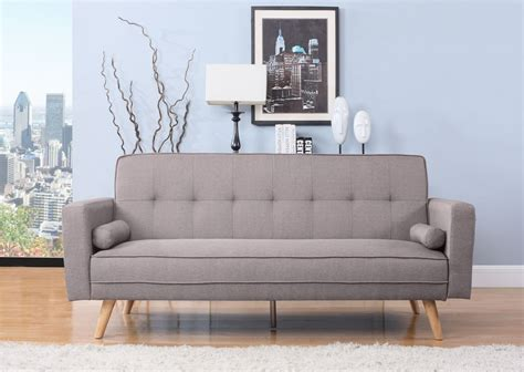 Click Clack Bed Settee by Birlea Ethan Sofa Bed Settee 3 Seater Click Clack Grey