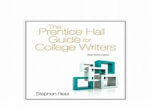 Prentice Hall Essential Guide For College Writers