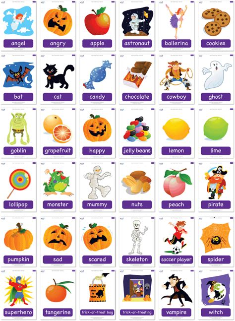 Flashcard Halloween Printable  Festival Collections