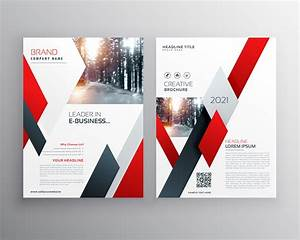 Red Business Annual Report Brochure Flyer Design Template