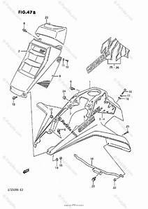Suzuki Atv 1989 Oem Parts Diagram For Front Fender  Model