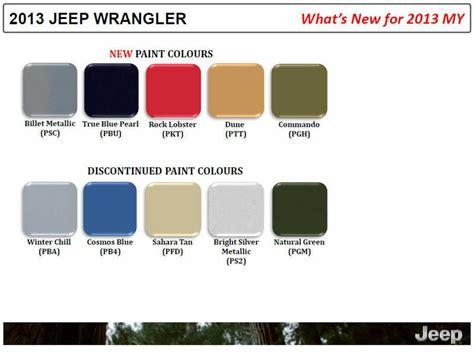 2013 jeep wrangler colors jeep wrangler 2013 my colors jeep tech jeeps