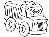 Coloring Truck Printable Preschool Coloringpages1001 Transportation sketch template