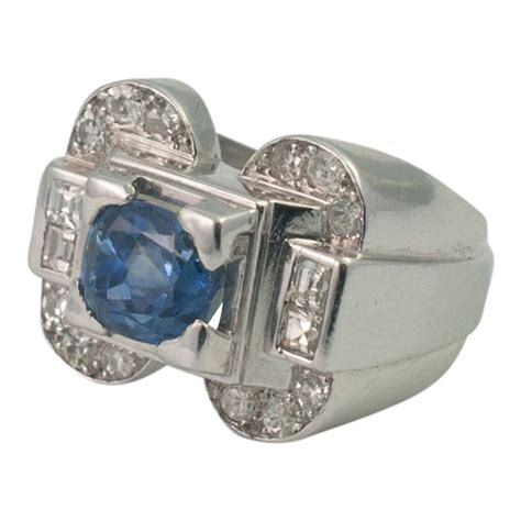 deco sapphire and ring from plaza jewellery