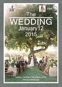 how to design your stylish wedding poster amoyshare With wedding invitation collage maker