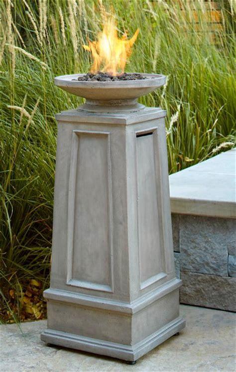 corsica propane fire column traditional fire pits
