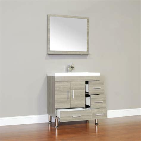 """Alyaat8050g 30"""" Single Modern Bathroom Vanity Gray"""