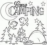 Camping Coloring Gone sketch template