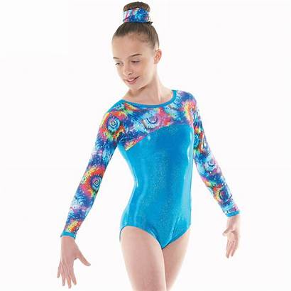Leotard Gymnastic Gym Tappers Pointers Sleeve Turquoise