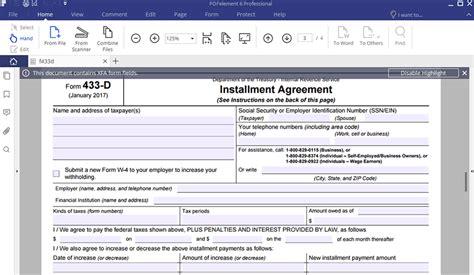 Form 433d  Eczaproductosebco