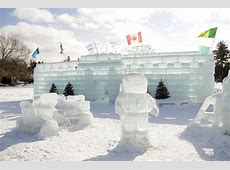 Slideshow Building the Ice Palace, and fun and games at