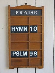 Hand Carved Victorian Wall Mounted Hymn Board