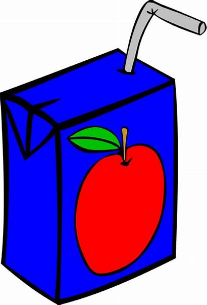 Juice Drink Drinks Clipart Box Apple Boxes