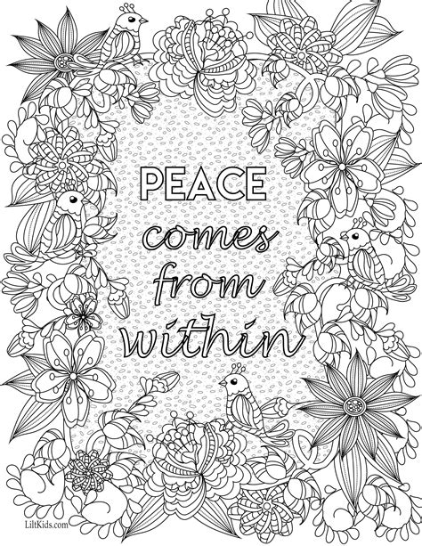 inspirational quote adult coloring book image