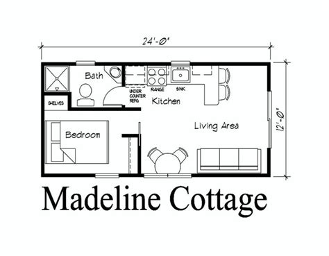 guest house plans 12 x 24 cabin floor plans search cabin coolness