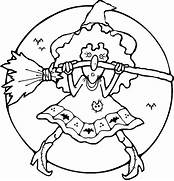 Cute Halloween Witch Coloring Pages