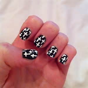 Black and white cross nail art imgkid the image kid has it