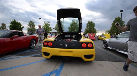 This video shows you a (almost) classic ferrari 360 modena doing some donuts on the public road together with a. Ferrari 360 Modena - walk around, start up, revs (Custom Exhaust, very loud!) - YouTube