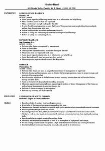 barback resume samples velvet jobs With barback resume