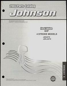 2003 Johnson Outboard Parts Manual 6 Hp 4 Stroke Model