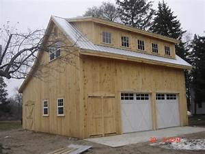 saltbox garage with loft broken back salt box post beam With barn with loft kit