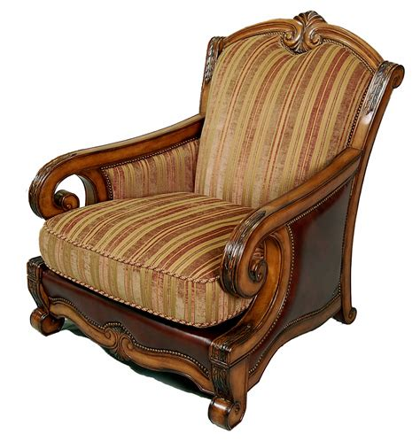 Upholstered Living Room Club Chairs by Traditional Italian Fabric And Leather Upholstered Living