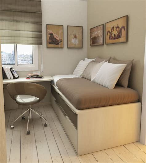 desk and bed in small room simple wooden bed frame with desk and storage on wooden
