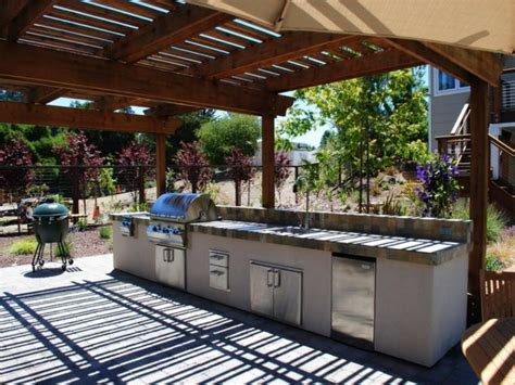 cuisine exterieure moderne meuble cuisine extérieur idées et conseils rangement pratique