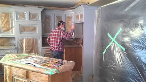youtube painting kitchen cabinets how to prep and spray kitchen cabinets youtube