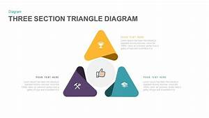 Three Section Triangle Diagram Powerpoint And Keynote